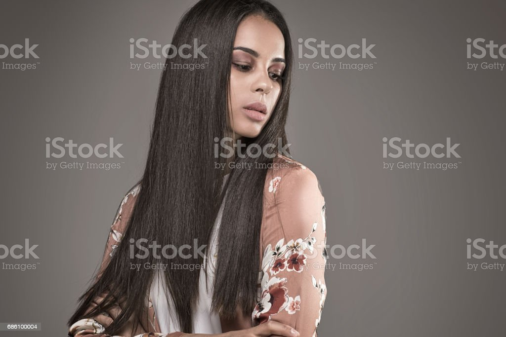 Portrait of african american woman. stock photo