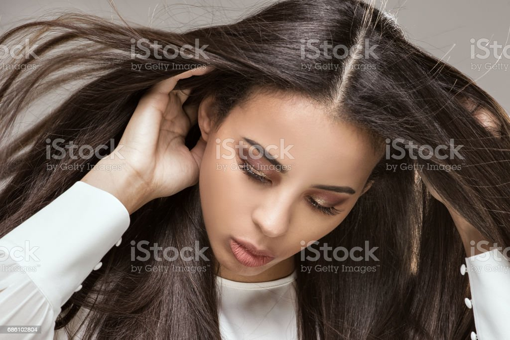 Portrait of african american woman stock photo