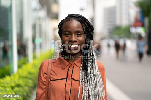 istock Portrait of African Woman at Street 959232730
