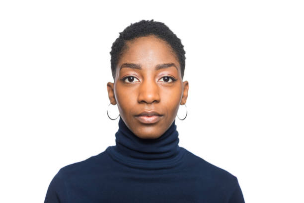 Portrait of african woman stock photo