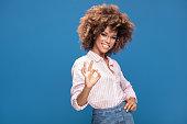 istock Portrait of afro girl in eyeglasses. 995744824