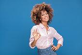 istock Portrait of afro girl in eyeglasses. 995744854