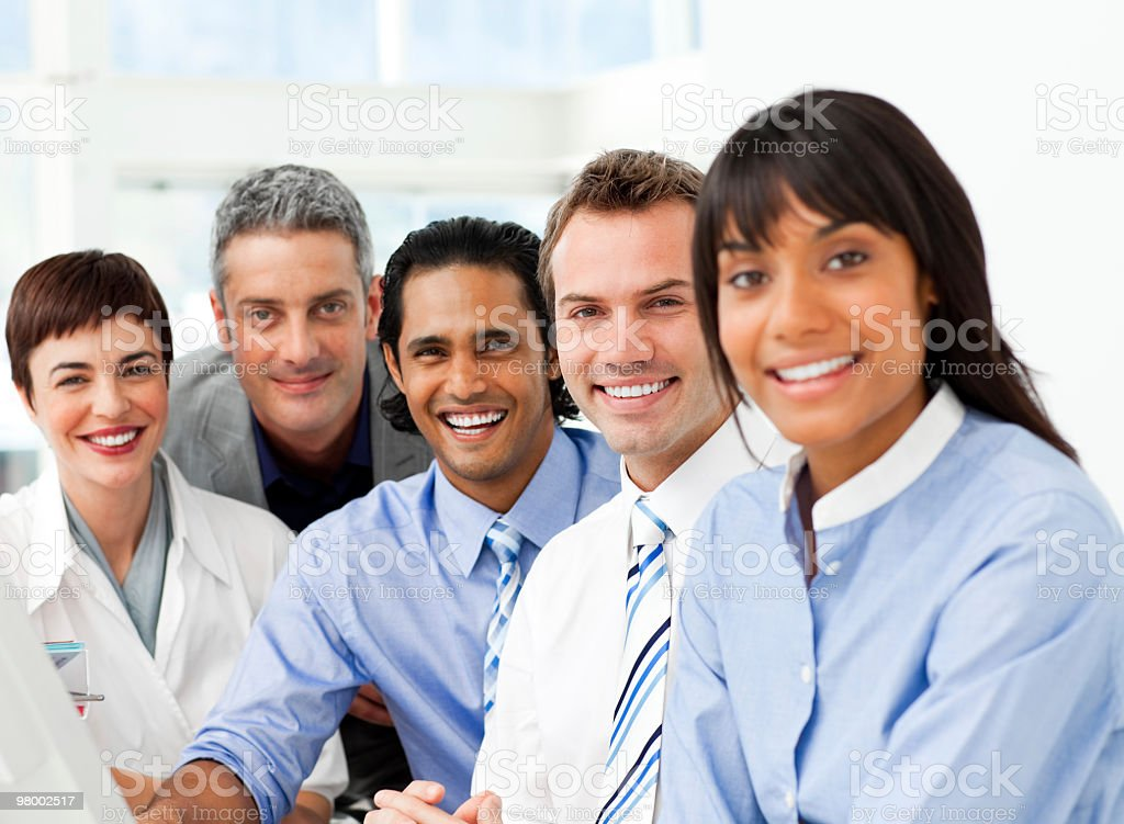 Portrait of ambitious business team at work royalty-free stock photo