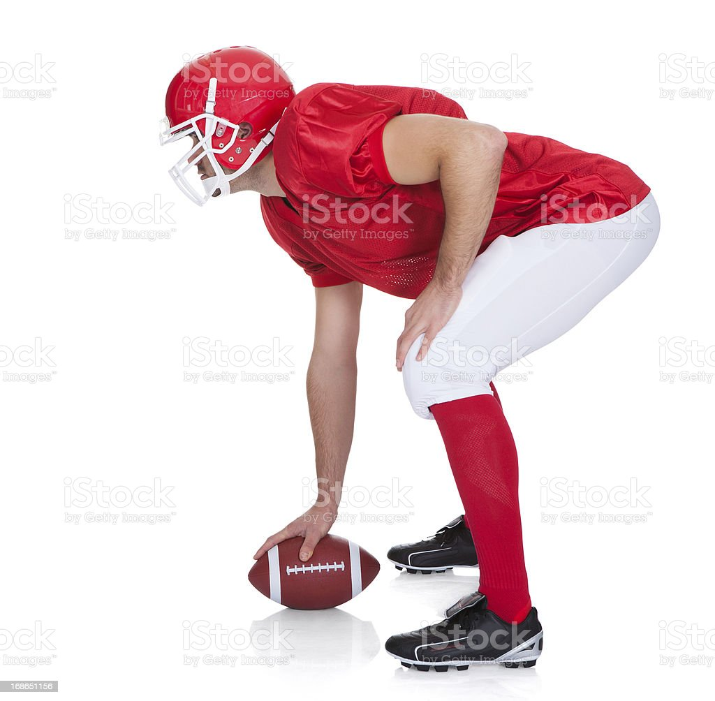Portrait of American Football player royalty-free stock photo