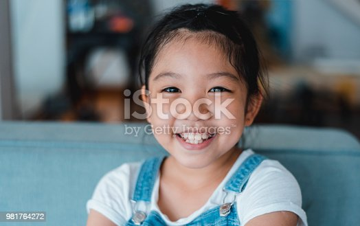 Portrait of an adorable chinese girl