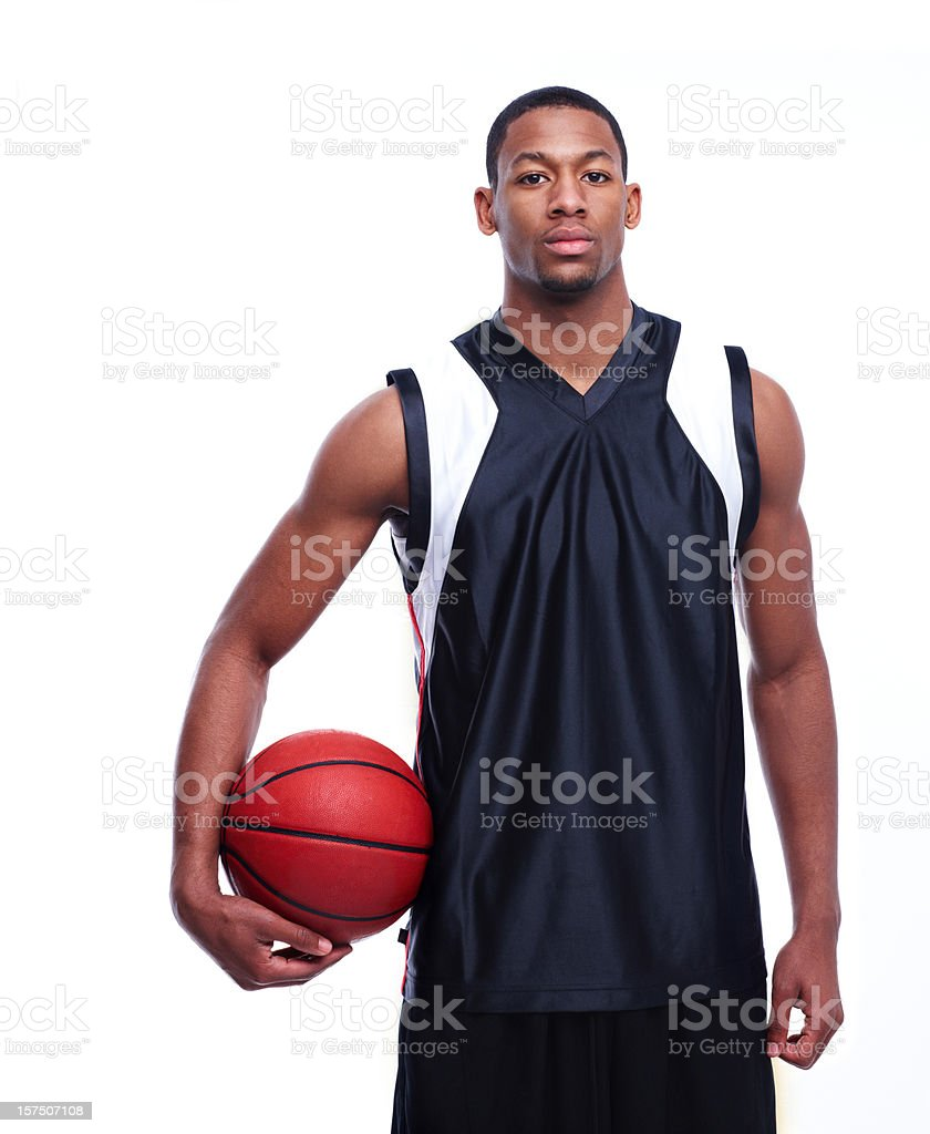 Portrait of an African American basketball player stock photo