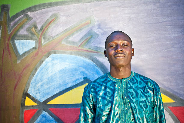 Portrait Of An African Man stock photo