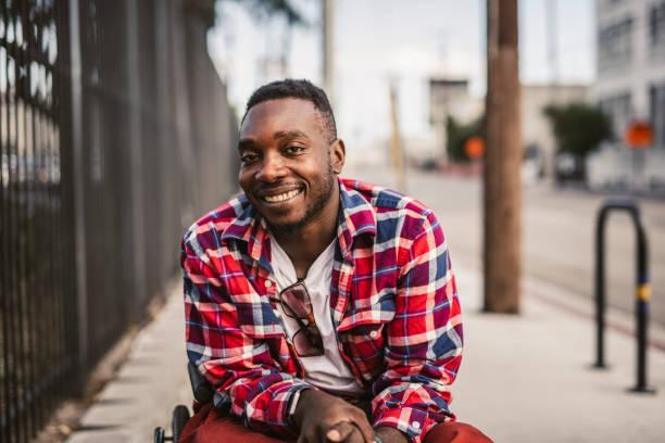 Porträt eines afro-amerikanischen Mannes – Foto