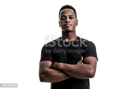 istock Portrait of an afro athletic man 843435036