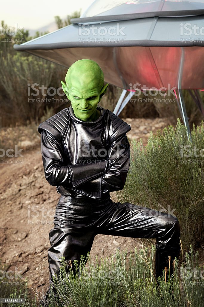 Portrait of an Alien stock photo