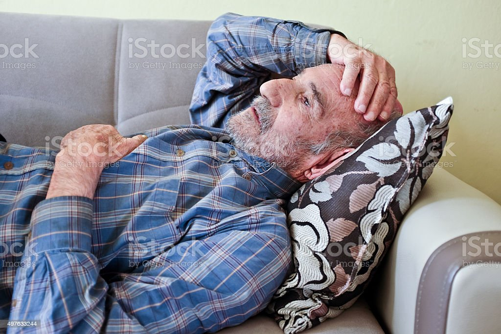 Portrait of an Alzheimer's Patient stock photo