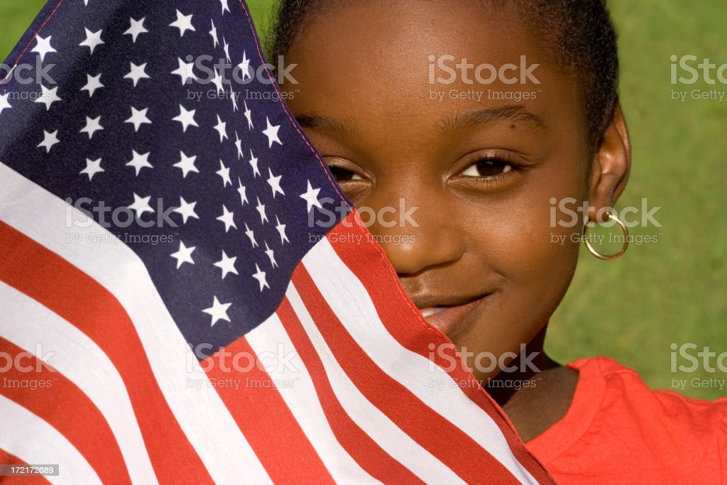 portrait of an american girl royalty-free stock photo