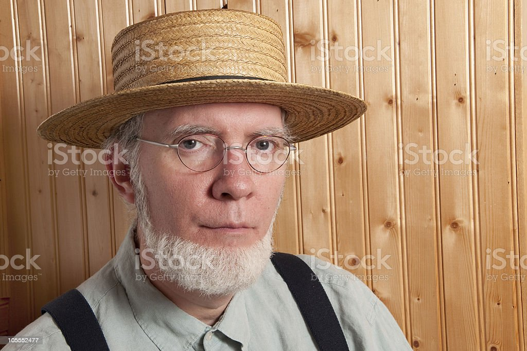 Portrait of an Amish Man stock photo