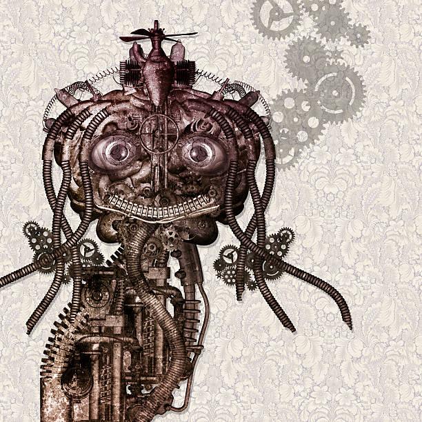 Porträt von einem antiken Cyborg – Foto
