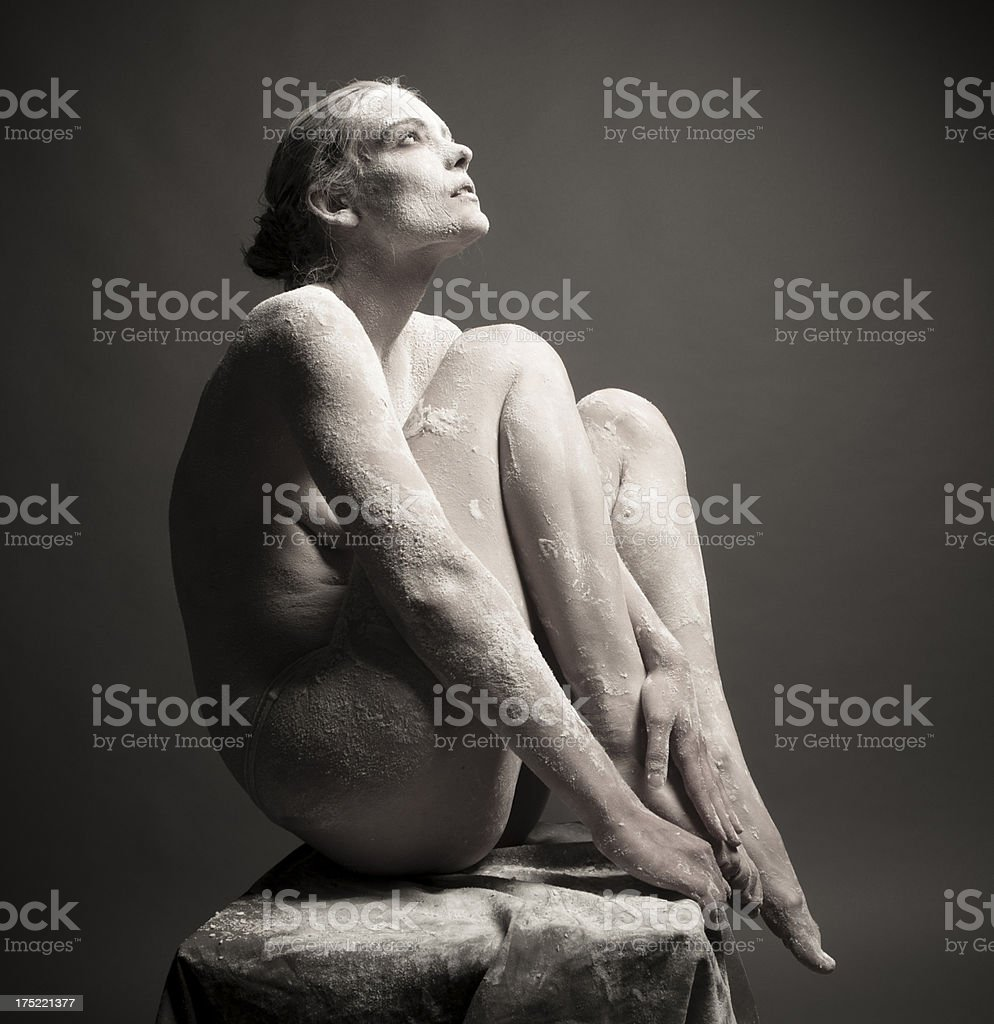 Portrait of an artistic woman royalty-free stock photo