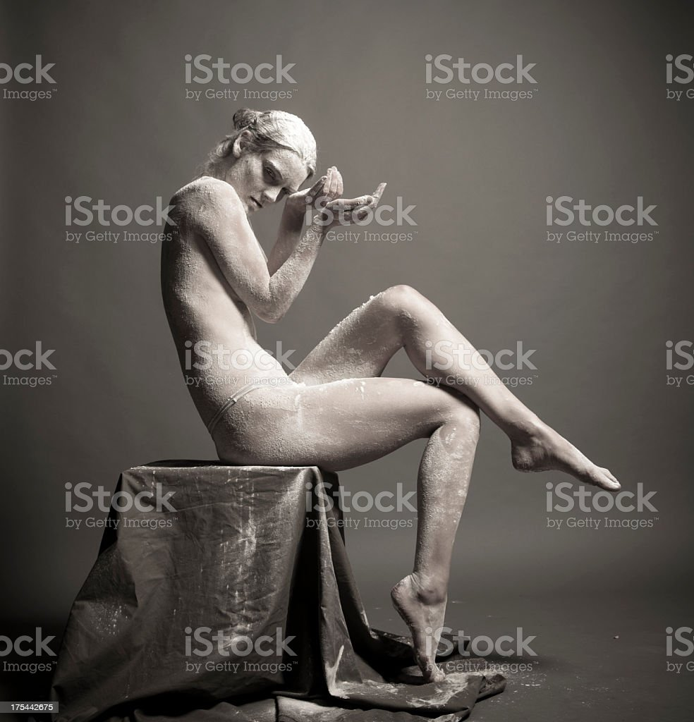 Portrait of an artistic woman stock photo