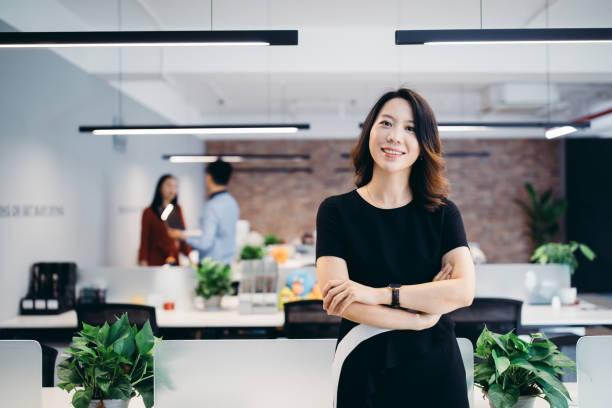 Portrait of an Asian businesswoman. stock photo