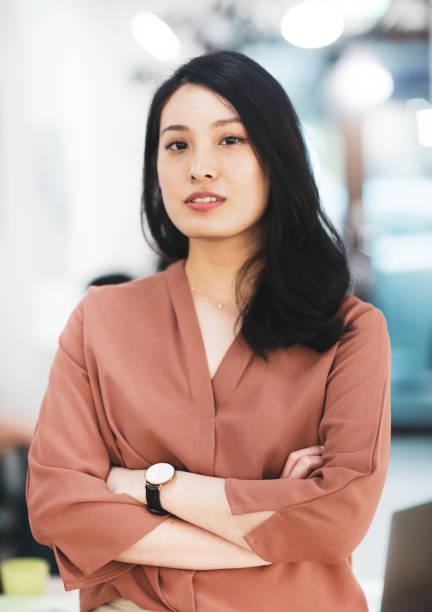 Portrait of an asian businesswoman stock photo