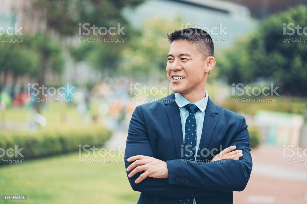 Portrait of a smiling middle aged businessman