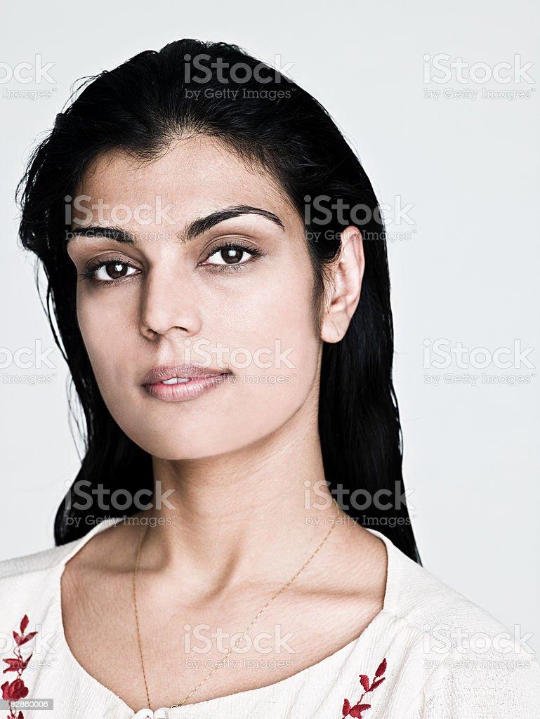 Portrait of an asian woman royalty free stockfoto
