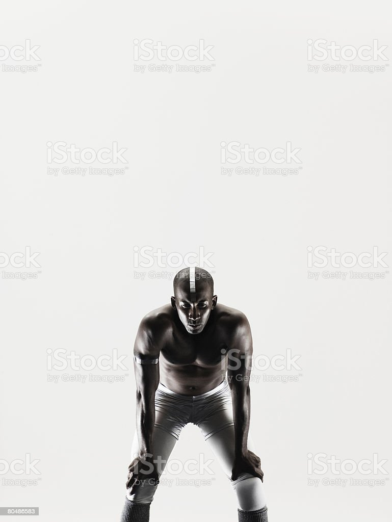 Portrait of an athlete royalty-free stock photo