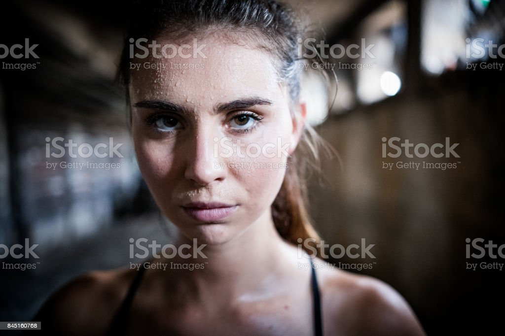 Portrait of an athlete stock photo