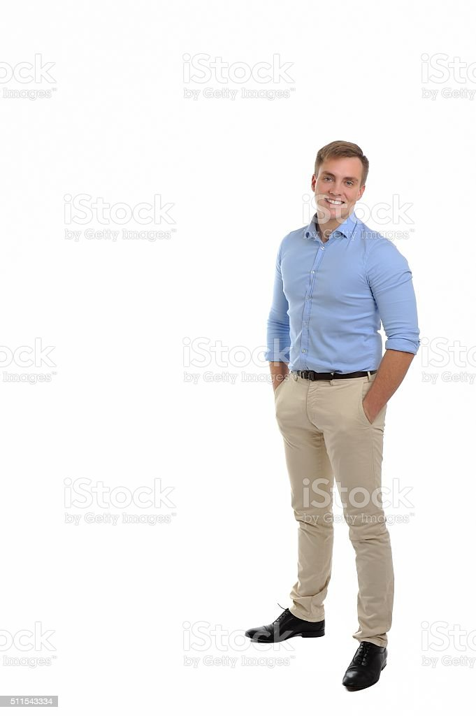 Portrait of an attractive confident young man. stock photo
