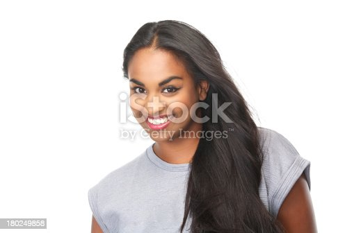 629077968istockphoto Portrait of an attractive female smiling 180249858