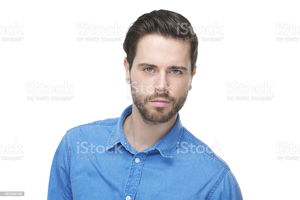 Portrait of an attractive male fashion model royalty-free stock photo