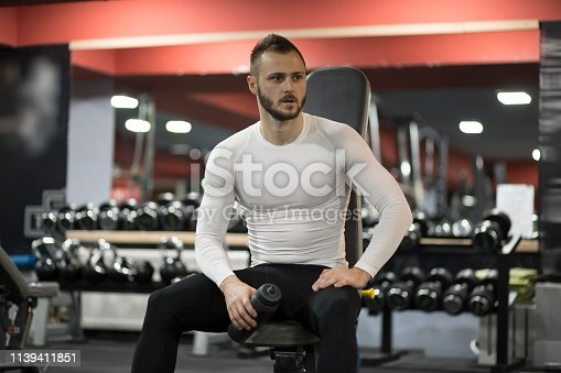 istock Portrait of an attractive man in the gym 1139411851