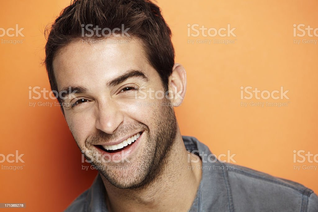 Portrait of an attractive man royalty-free stock photo