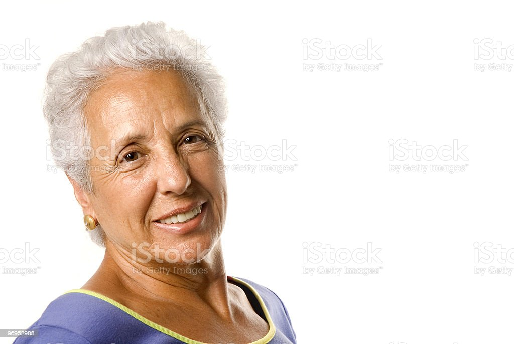 Portrait of an attractive mature woman royalty-free stock photo