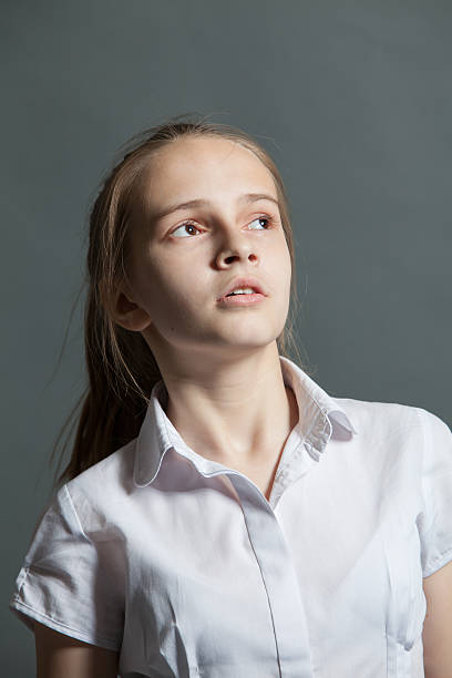 Portrait of an attractive teenager girl stock photo