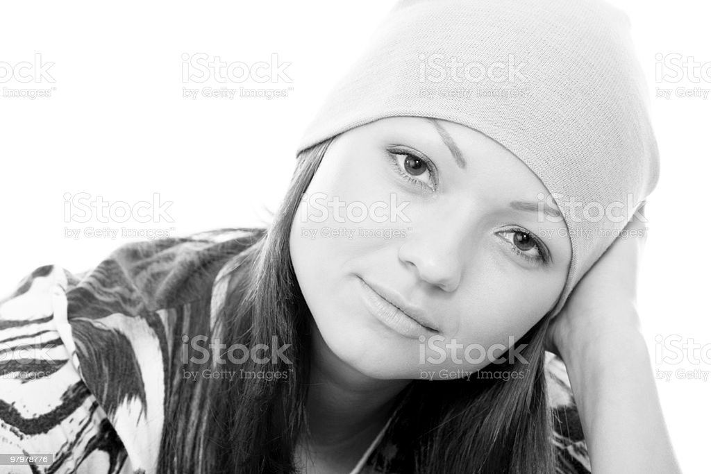 portrait of an attractive young adult woman royalty-free stock photo