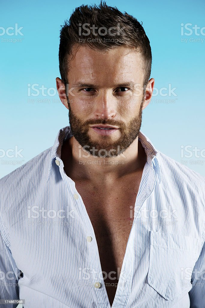 Portrait of an attractive young man posing royalty-free stock photo