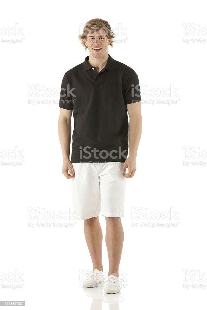 Portrait of an attractive young man smiling stock photo