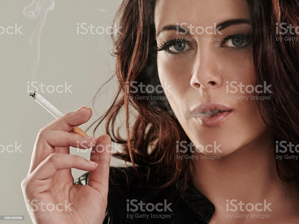 She's a bad girl by nature stock photo