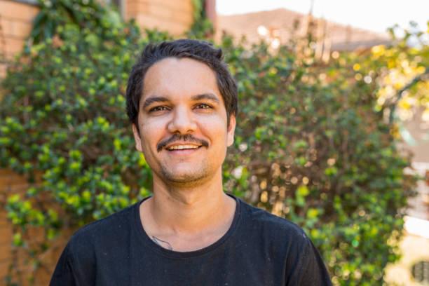 Portrait of an Australian Aboriginal Young Man stock photo