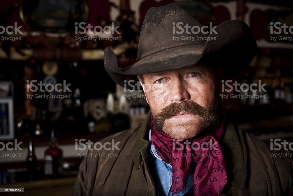 Portrait of an Authentic Cowboy Rancher royalty-free stock photo