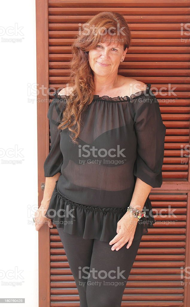 portrait of an  beautiful older woman royalty-free stock photo