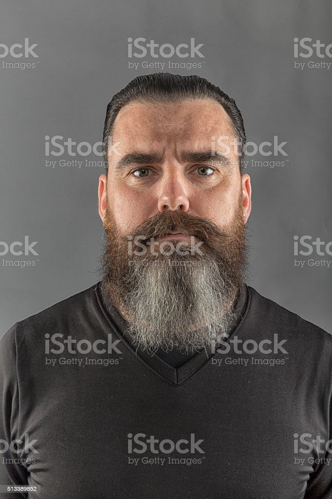 Portrait of an caucasian real man stock photo