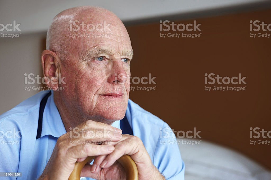 Portrait of an Elderly Man stock photo