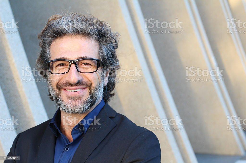 Portrait of an elegant CEO smiling foto de stock royalty-free