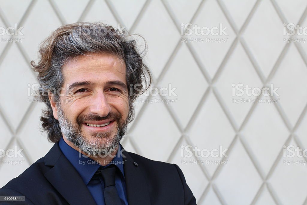 Portrait of an elegant CEO smiling stock photo