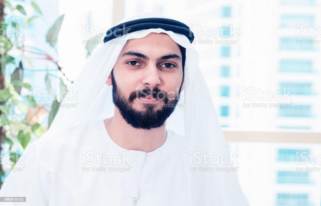 Portrait of an Emirati Arab Businessman stock photo