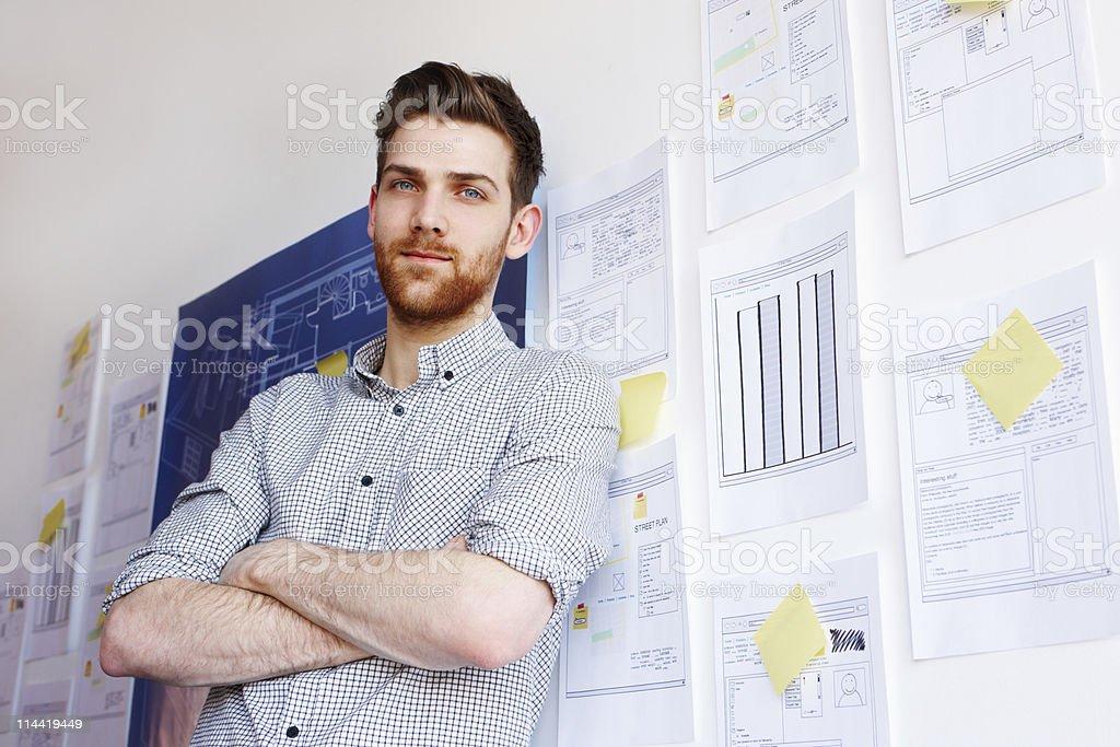 Porträt von einem Techniker Lizenzfreies stock-foto