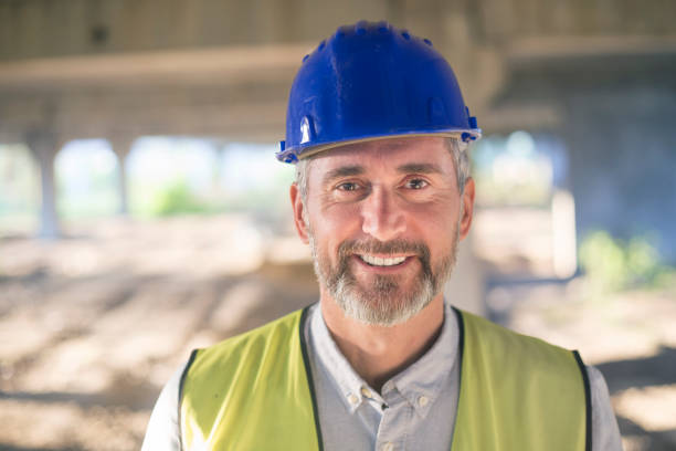 Portrait of an engineer stock photo