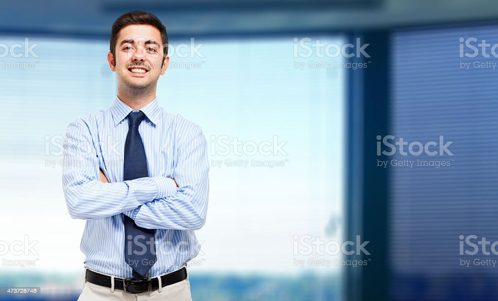 Portrait of an handsome confident business man stock photo