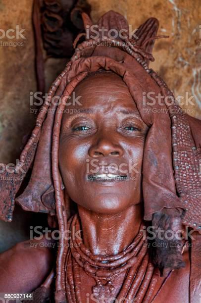 Himba women braiding each others hair. Marienfluss Valley