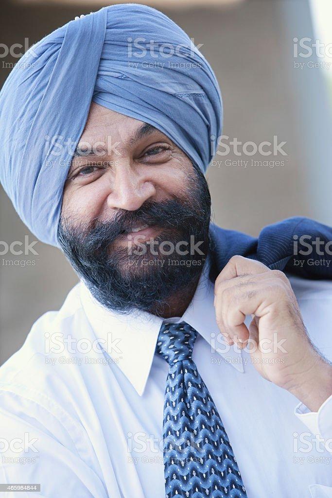 Portrait Of An Indian Businessman stock photo